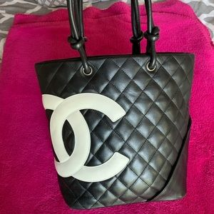 Chanel Black Cambon Tote